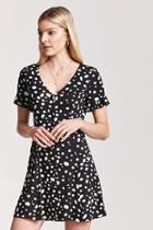 Forever21 Polka Dot Button-front Dress