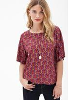 Forever21 Abstract Print Top