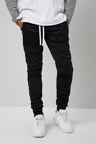 Forever21 Victorious Ruched Moto Joggers