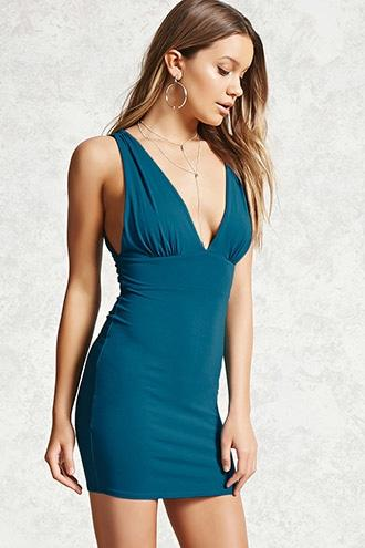 Forever21 Plunging Cutout Bodycon Dress