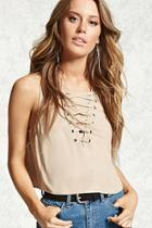 Forever21 Laceup Crop Top