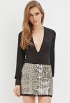 Forever21 Geo-patterned Sequin Skirt