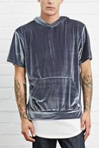 21 Men Men's  Silver Eptm. Hooded Velour Tee