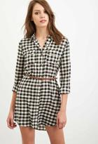 Forever21 Belted Gingham Shirt Dress
