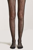 Forever21 Sheer Scalloped Tights