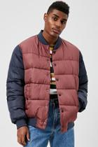Forever21 Colorblock Puffer Jacket