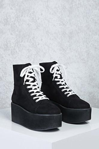 Forever21 Faux Suede Platform Sneakers