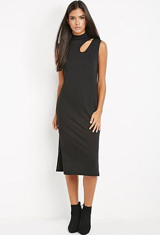 Love21 Cutout Midi Shift Dress