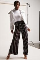 Forever21 Belted Multistripe Palazzo Pants