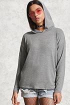 Forever21 Heathered Knit Hooded Top