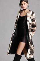 Forever21 Multicolored Faux Fur Coat