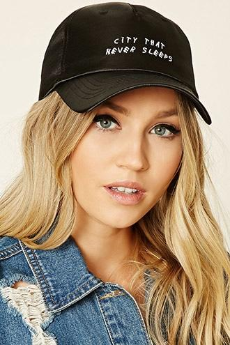 Forever21 Satin Graphic Baseball Cap