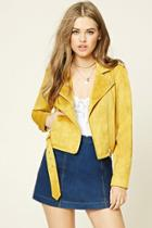 Forever21 Women's  Faux Suede Moto Jacket