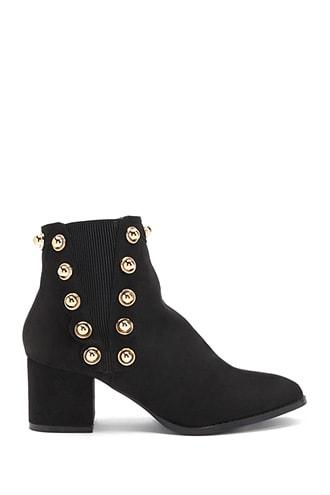 Forever21 Lemon Drop By Privileged Studded Booties