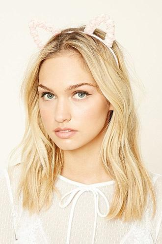 Forever21 Rose Cat Ear Headband