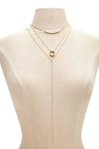 Forever21 Matchstick Necklace Set