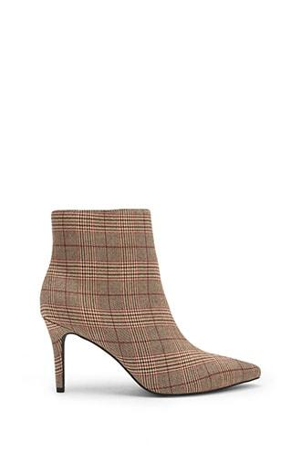 Forever21 Plaid Print Pointed Toe Boots