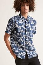 Forever21 Ingear Palm Tree Print Shirt