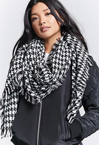 Forever21 Houndstooth Woven Scarf