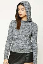 Forever21 Marled Fleece Hooded Top
