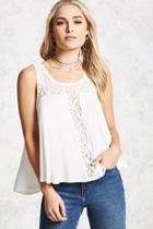 Forever21 Lace Trim Top