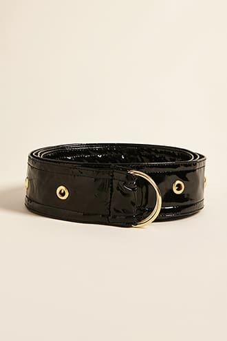 Forever21 Faux Patent Leather D-ring Belt