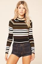 Love21 Women's  Black & Burgundy Contemporary Sweater Top