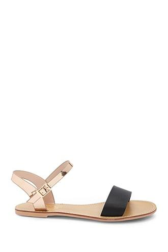 Forever21 Contrast Open-toe Flat Sandals