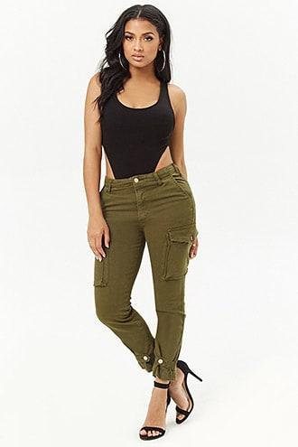 Forever21 Skinny Cargo Pants