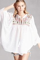 Forever21 Arynk Embellished Peasant Top
