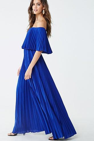 Forever21 Accordion Pleat Maxi Dress