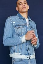 Forever21 Levi's Bleach-dyed Denim Trucker Jacket