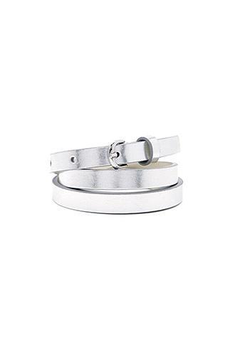 Forever21 Metallic Skinny Belt