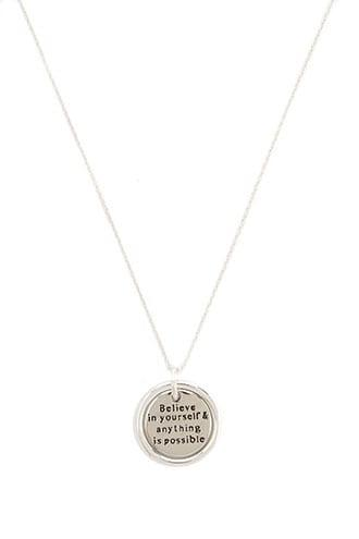 Forever21 Inspirational Pendant Necklace