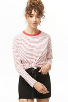 Forever21 Long Sleeve Striped Top