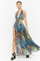 Forever21 Cutout Floral Halter Maxi Dress