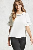 Forever21 Contrast Piped Crepe Top