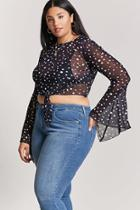Forever21 Plus Size Polka Dot Mesh Top
