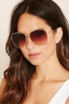 Forever21 Gold & Rose Gradient Square Sunglasses