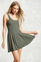 Forever21 Ribbed Skater Tank Dress