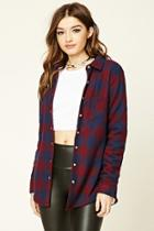 Forever21 Women's  Buffalo Plaid Flannel Jacket