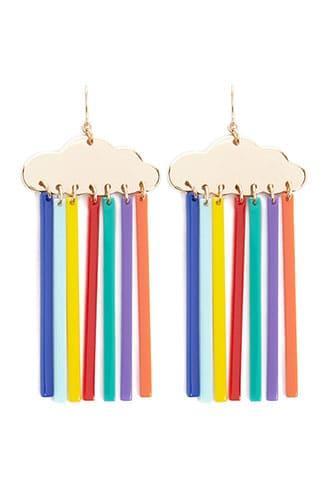 Forever21 Rainbow Raincloud Drop Earrings