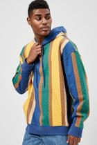 Forever21 Multicolor Striped Hoodie