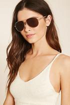 Forever21 Brow Bar Aviator Sunglasses