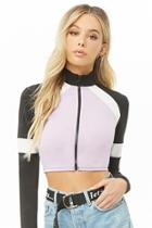 Forever21 Cropped Colorblock Track Jacket