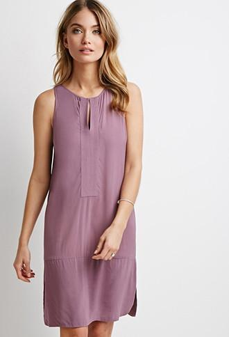 Love21 Women's  Contemporary Stitched-panel Shift Dress