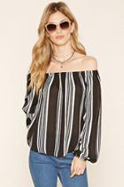 Forever21 Contemporary Striped Blouse