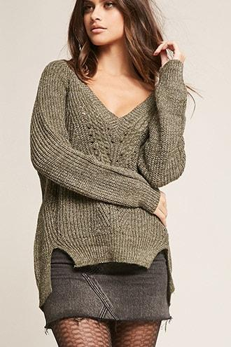 Forever21 Pinhole Ribbed Sweater