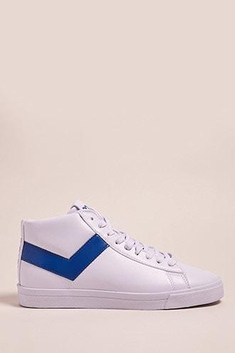 Forever21 Pony High-top Faux Leather Sneakers