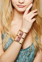 Forever21 From St. Xavier Darcy Arm Cuff (gold/pink)